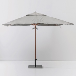 Holz Sonnenschirm 300x300 cm